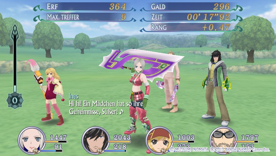 Tales of Hearts R - Battlequotes
