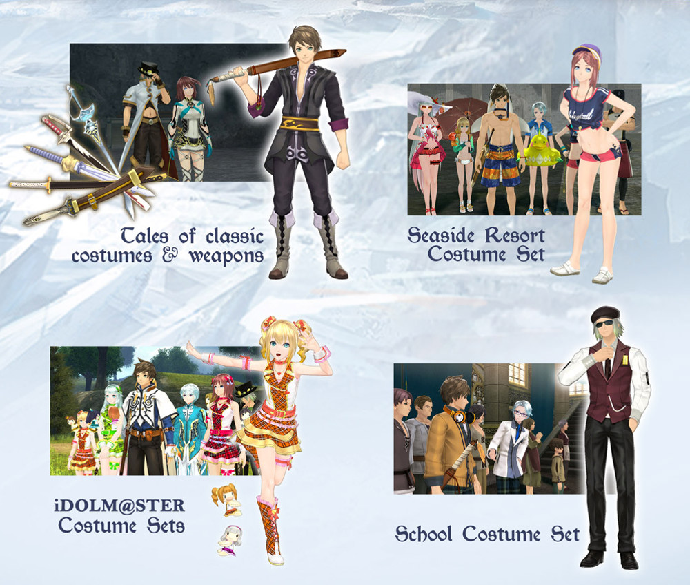 Tales of Zestiria DLC Costumes 2