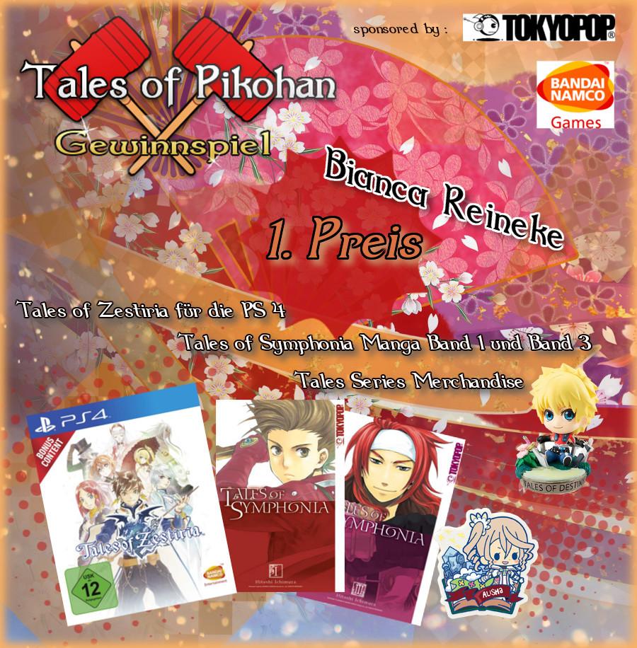 Tales of Pikohan Neujahrs Gewinnspiel 1. Platz Bianca Reineke